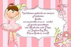 Convite digital personalizado Bailarina 018