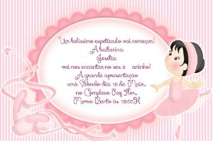 Convite digital personalizado Bailarina 019