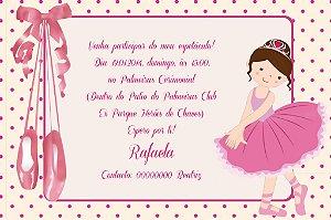 Convite digital personalizado Bailarina 021
