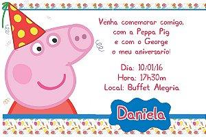 Convite digital personalizado Peppa Pig 002