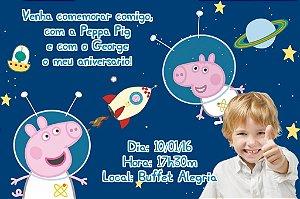 Convite digital personalizado Peppa Pig com foto 006