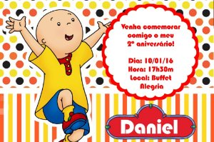 Convite digital personalizado Caillou 003
