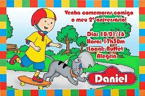 Convite digital personalizado Caillou 013