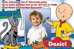 Convite digital personalizado Caillou com foto 005