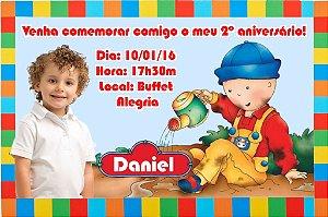 Convite digital personalizado Caillou com foto 006