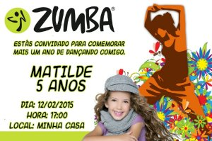 Convite digital personalizado Zumba com foto 001