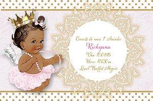 Convite digital personalizado Anjinha Princesa 001