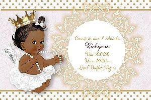 Convite digital personalizado Anjinha Princesa 002