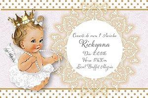 Convite digital personalizado Anjinha Princesa 003