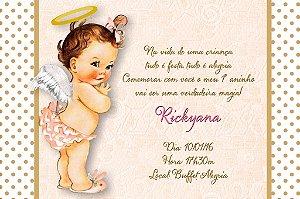 Convite digital personalizado Anjinha Bebe 001