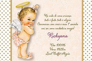 Convite digital personalizado Anjinha Bebe 005