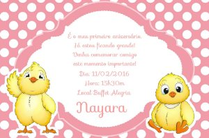 Convite digital personalizado Patinho Amarelinho 001
