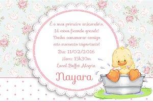 Convite digital personalizado Patinho Amarelinho 005