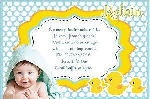 Convite digital personalizado Patinho Amarelinho com foto 004