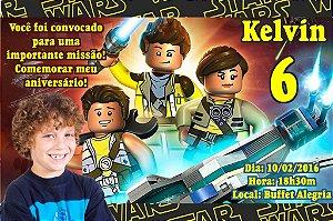Convite digital personalizado Lego com foto 002