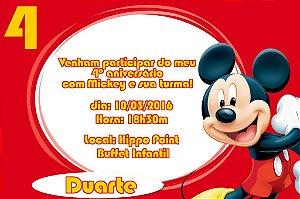Convite digital personalizado Mickey Mouse 002