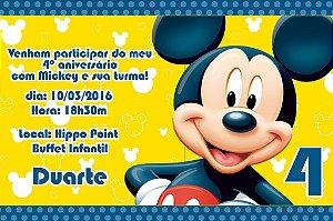 Convite digital personalizado Mickey Mouse 004
