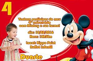 Convite digital personalizado Mickey Mouse com foto 002