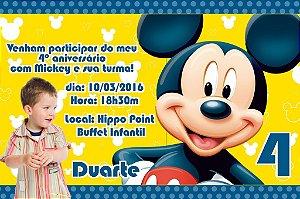 Convite digital personalizado Mickey Mouse com foto 004