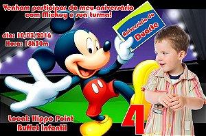 Convite digital personalizado Mickey Mouse com foto 005