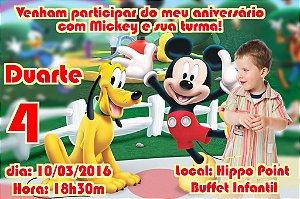 Convite digital personalizado Mickey Mouse com foto 006