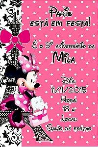 Convite digital personalizado Minnie em Paris 002
