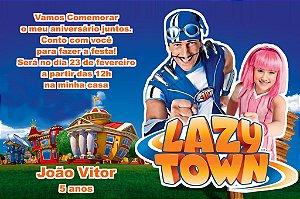 Convite digital personalizado Lazy Town 004