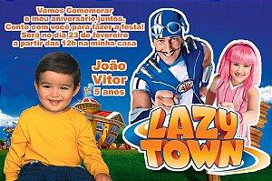 Convite digital personalizado Lazy Town com foto 004