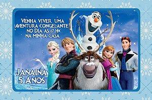 Convite digital personalizado Frozen - O Reino do Gelo 001