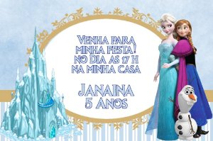 Convite digital personalizado Frozen - O Reino do Gelo 003