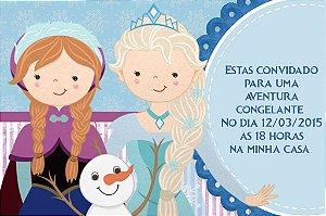 Convite digital personalizado Frozen - O Reino do Gelo 009