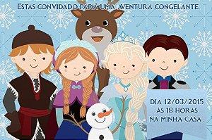 Convite digital personalizado Frozen - O Reino do Gelo 010