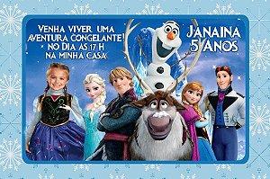 Convite digital personalizado Frozen - O Reino do Gelo com foto 001
