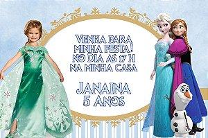 Convite digital personalizado Frozen - O Reino do Gelo com foto 003