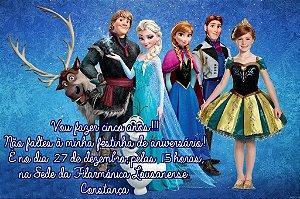 Convite digital personalizado Frozen - O Reino do Gelo com foto 004