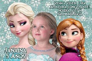 Convite digital personalizado Frozen - O Reino do Gelo com foto 006