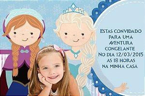 Convite digital personalizado Frozen - O Reino do Gelo com foto 009