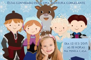 Convite digital personalizado Frozen - O Reino do Gelo com foto 010