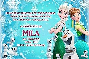 Convite digital personalizado Frozen Fever 001
