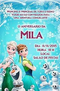 Convite digital personalizado Frozen Fever 002