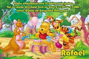 Convite digital personalizado Ursinho Pooh 004