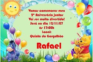 Convite digital personalizado Ursinho Pooh 009