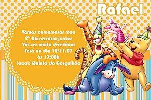 Convite digital personalizado Ursinho Pooh 012