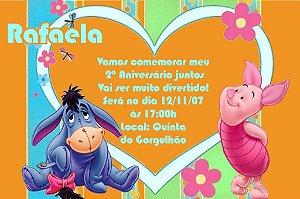 Convite digital personalizado Ursinho Pooh 019
