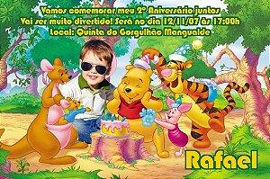 Convite digital personalizado Ursinho Pooh com foto 004
