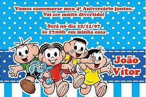 Convite digital personalizado Turma da Mônica 015