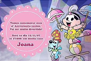 Convite digital personalizado Turma da Mônica 032