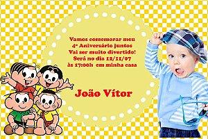 Convite digital personalizado Turma da Mônica com foto 007