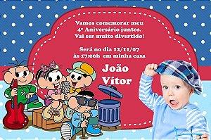 Convite digital personalizado Turma da Mônica com foto 021
