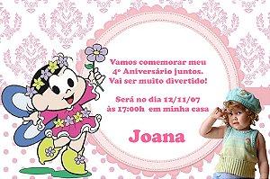Convite digital personalizado Turma da Mônica com foto 022